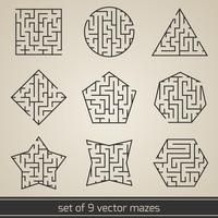 Doolhof labyrint ingesteld vector