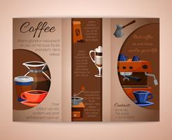Koffiebrochure tri-fold vector