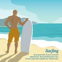 Surfen zomer poster vector