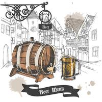 Bier bar menu poster vector