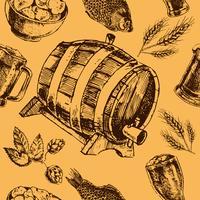Bier retro naadloze patroon