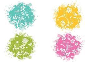 Splatter bloem vector pack