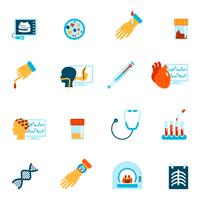 Medische tests pictogrammen plat