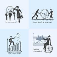 Time management samenstelling schets vector