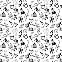 Tijd beheer pictogrammen schets naadloos vector