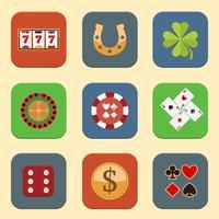 Casino ontwerp iconen vector
