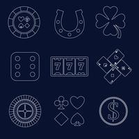 Casino schets ontwerpelementen vector