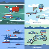 Transport vlakke set vector