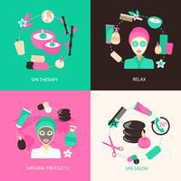 Spa pictogrammen concept vector