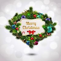 Kerst krans ansichtkaart