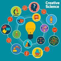 Creatief wetenschapsconcept vector