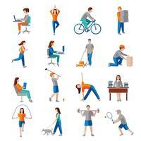 Lichamelijke activiteit pictogrammen