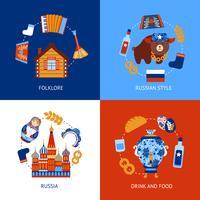 Rusland reizen platte set