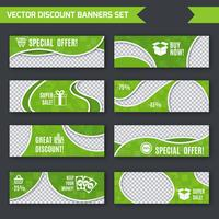 Goedkope banners groen ingesteld vector