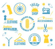 Etiketten voor naaimachines
