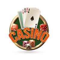 Pocker casino embleem vector
