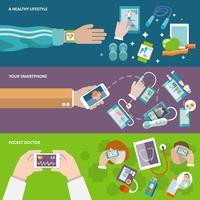 Digitale gezondheidsbanner vector