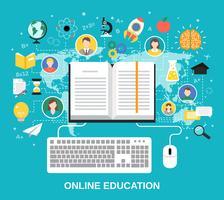 Online onderwijs concept vector