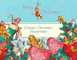 Kerstmis achtergrond gekleurd