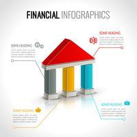 Bank financiële infographics vector