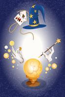 Goochelaar gekleurde achtergrond vector