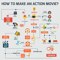 Actiefilm infographic vector