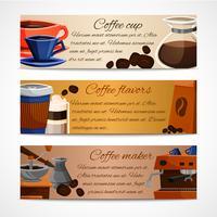 Koffiebanners instellen vector