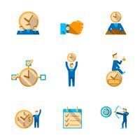 Tijd management pictogrammen instellen