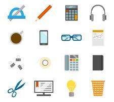 Office-pictogrammen instellen vector