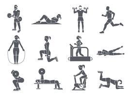 Gym Sport Oefeningen Pictogrammen vector