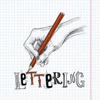 Hand tekenen op papier vector