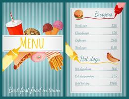 Fastfood-menu
