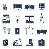 Energie pictogrammen zwarte set