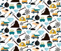 Mijnbouw naadloos patroon