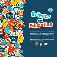 Onderwijs wetenschap achtergrond vector