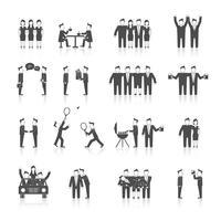 Vrienden pictogrammen zwart