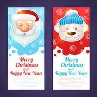 Kerst banner verticaal vector