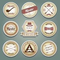 Hipster papieren etiketten vector