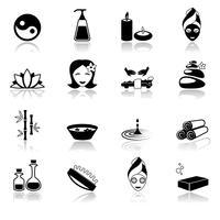 Spa pictogrammen zwart vector
