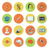 Wetenschap en onderzoek pictogrammen