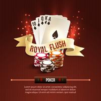 Pocker casino achtergrond vector