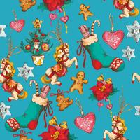 Kerst naadloze patroon vector