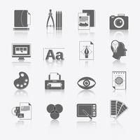 Grafisch ontwerp pictogrammen vector