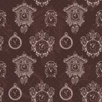 Oud uitstekend klok naadloos patroon vector