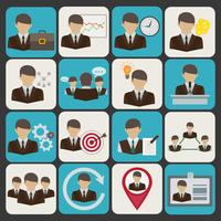 Bedrijf en management pictogrammen