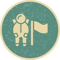 Man met vlag Vector Icon