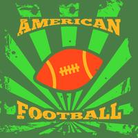 Amerikaans voetbal rugby poster vector