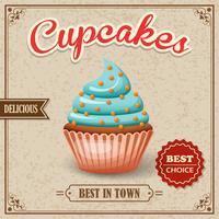 Cupcake café-poster vector