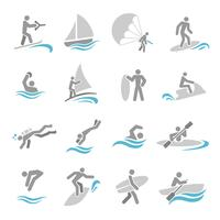 Watersport icons set