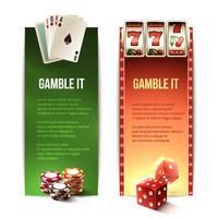 Casino verticale banners vector
